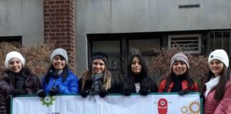 María Jose, Darlin, Dana, Gilda, Stephanie y Mariela conformaron la delegación costarricense en Congreso ONU